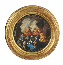 A double-portrait en brochette