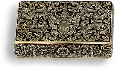 SWISS ENAMELLED GOLD SNUFF-BOX