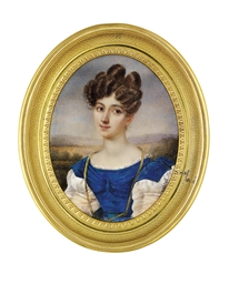 A young lady, in dress with bl