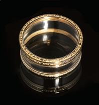 A LOUIS XVI THREE-COLOUR GOLD-MOUNTED GLASS SNUFF-BOX