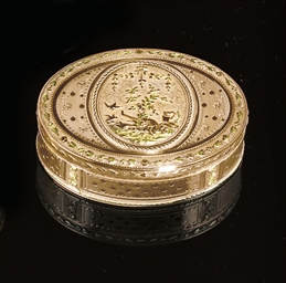 A SWISS FOUR-COLOUR GOLD SNUFF