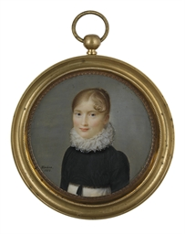 A young lady, in white dress,
