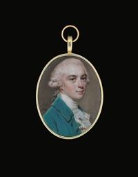 A young gentleman, in blue coa