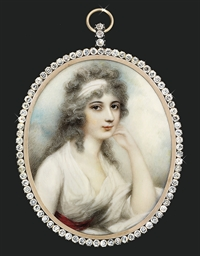 A young lady, in white muslin