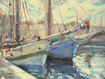 Boats in a harbour, St Tropez