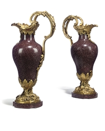 A PAIR OF ITALIAN ORMOLU-MOUNT