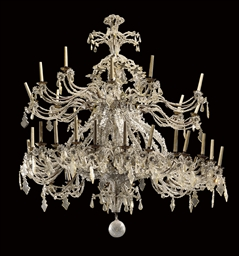AN ITALIAN CUT-CRYSTAL, GLASS,