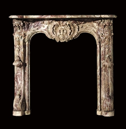 A LOUIS XV RANCE ROYAL MARBLE