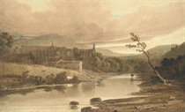 Bolton Abbey on the banks of the River Wharfe, Yorkshire