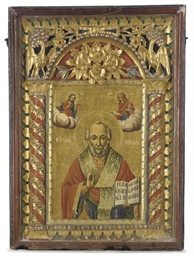 SAINT NICHOLAS ENCASED IN A CA