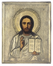 CHRIST PANTOKRATOR WITH A GILT