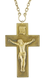 A SILVER-GILT PECTORAL CROSS W
