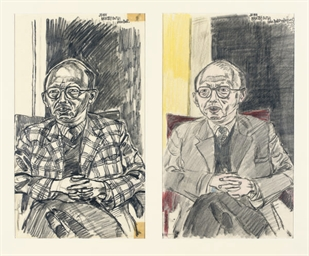 Two sketches for a portrait of