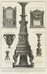 Various candelabra, a vase and