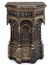A WALNUT AND GILT-WOOD CONSOLE