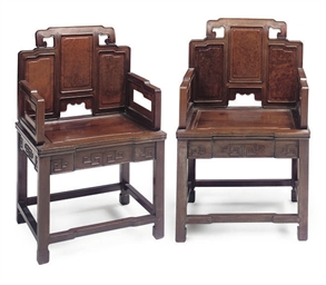 A PAIR OF CHINESE HUANG HUALI