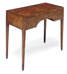 A BURR ELM DRESSING TABLE