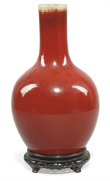 A CHINESE SANG-DE-BOEUF BOTTLE