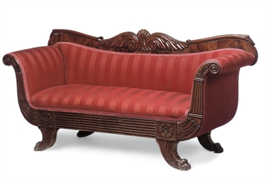 A LATE REGENCY MAHOGANY SOFA