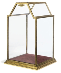 A FRENCH GILT-BRASS TABLE VITR