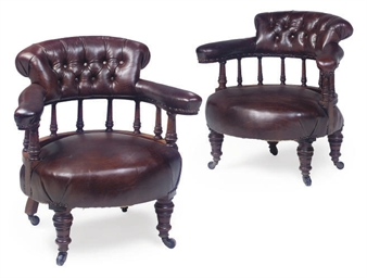 A PAIR OF LATE VICTORIAN LEATH