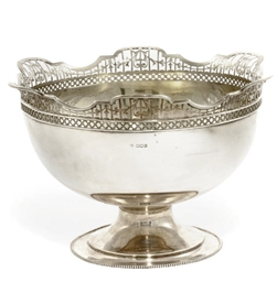 A SILVER ROSE BOWL