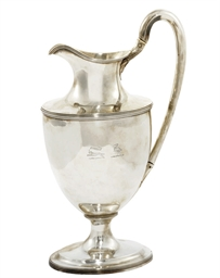 A WILLIAM IV SILVER EWER