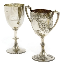 A LARGE VICTORIAN SILVER AGRIC