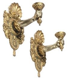 A PAIR OF ITALIAN GILTWOOD WAL