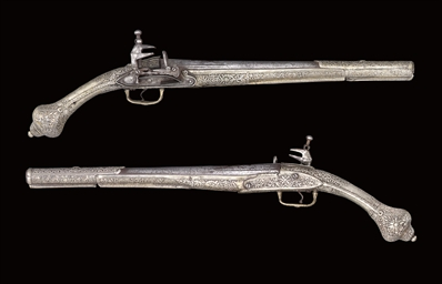 A PAIR OF BALKAN MIQUELET-LOCK