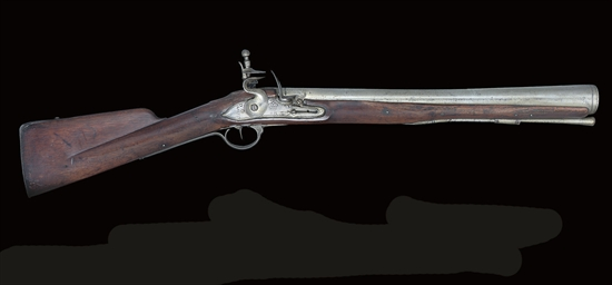 A CONTINENTAL FLINTLOCK BLUNDE