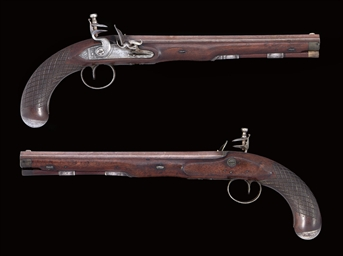 A PAIR OF EARLY FLINTLOCK DUEL