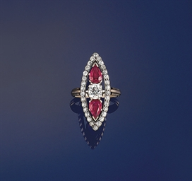 A 19th century ruby and diamon