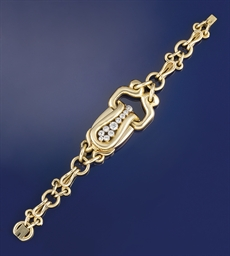 A lady's diamond set bracelet,