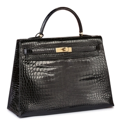 A BLEU ROI CROCODILE KELLY BAG