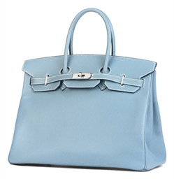 A BLUE JEAN COURCHEVEL BIRKIN