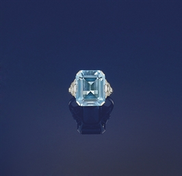 An Art Deco aquamarine and dia