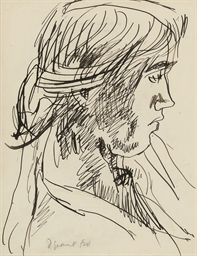 Vanessa Bell in profile