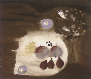 Still life with grapes and fig