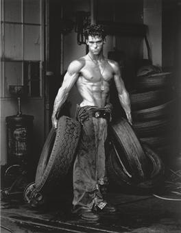 Fred with Tires, Hollywood, 1984