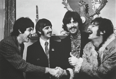 The Beatles at the launch of S