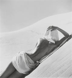 Nude in Mojave Desert, Califor