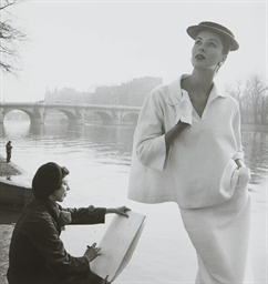 Suzy Parker by the Seine, fash