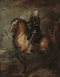 Equestrian portrait of King Ph
