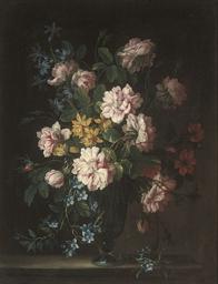 Roses, aquilegia, bluebells an