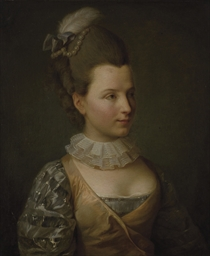 Portrait of the French actress