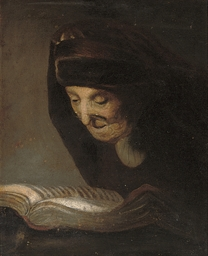The artist's mother reading