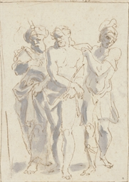 Christ being led to the cross
