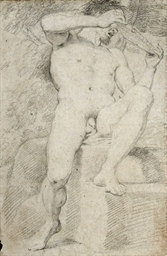 An academic nude as Polyphemus