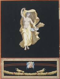 An allegorical female figure w